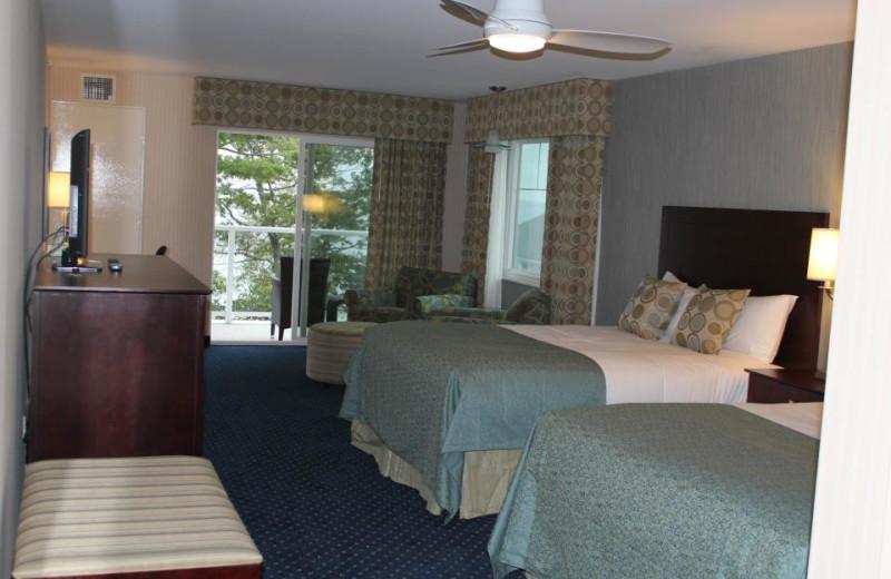 Guest room at Atlantic Oceanside Hotel.