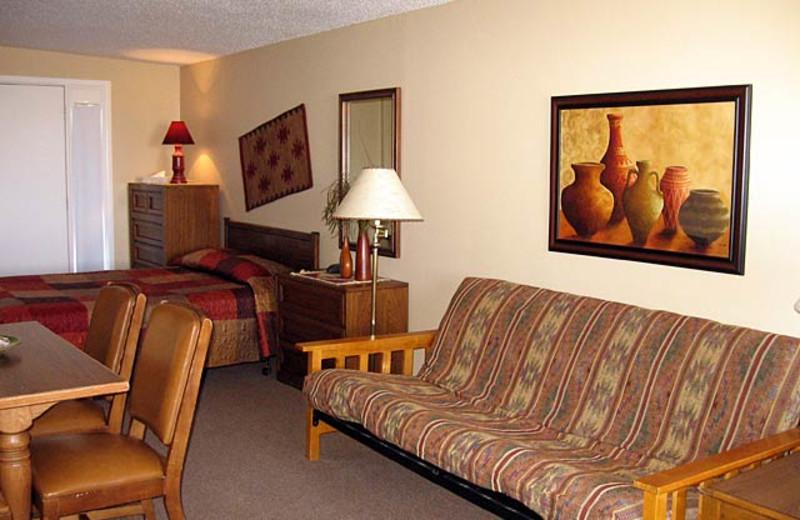 Cabin interior at Morris' Last Resort.