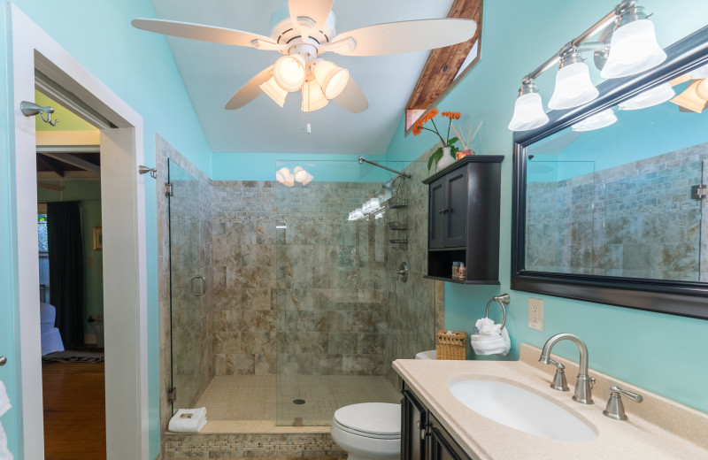 Rental bathroom at Key West Vacation Rentals.