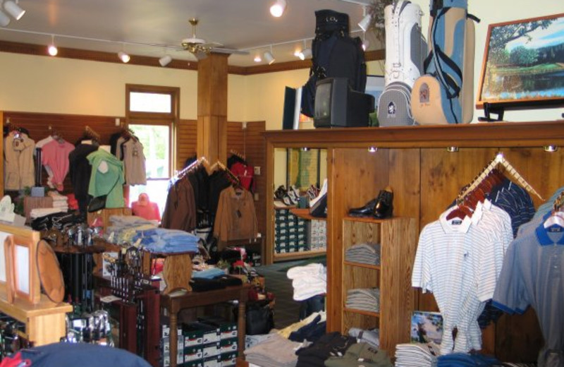 Golf shop at Tullymore Golf Resort.