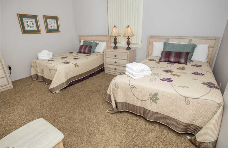 Bedroom at Holiday Isle Properties - Dolphin Point 103B.