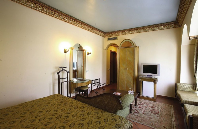 Guest room at Sultanahmet Palace Hotel.