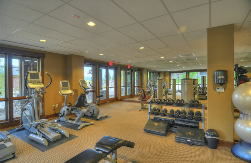 Fitness room at Trailhead Lodge.