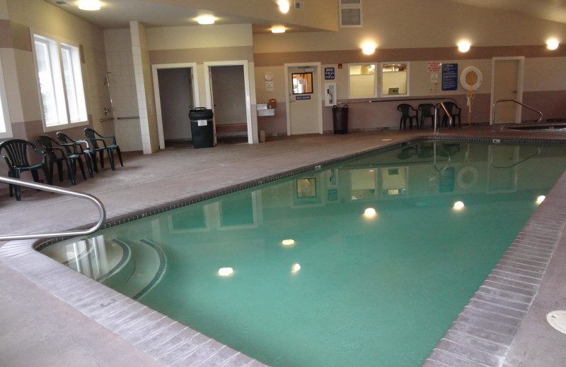 Indoor pool at Sunset Oceanfront Lodging.