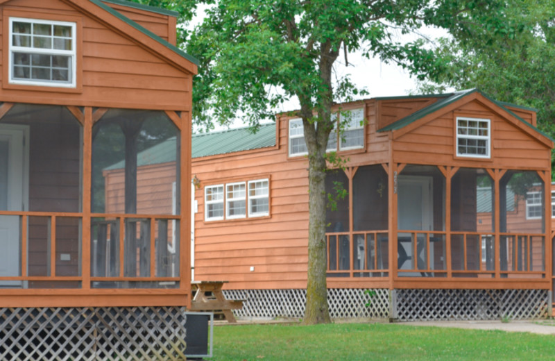 Cabins at Mark Twain Landing.