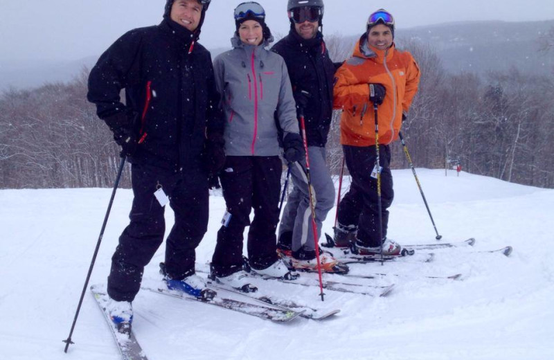 Family skiing at Otsego Club and Resort.