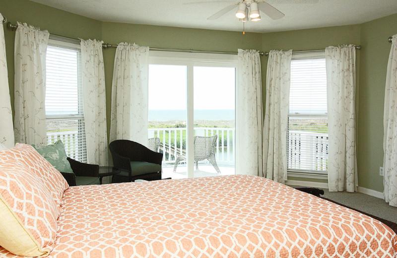 Rental bedroom at Oak Island Accomodations.