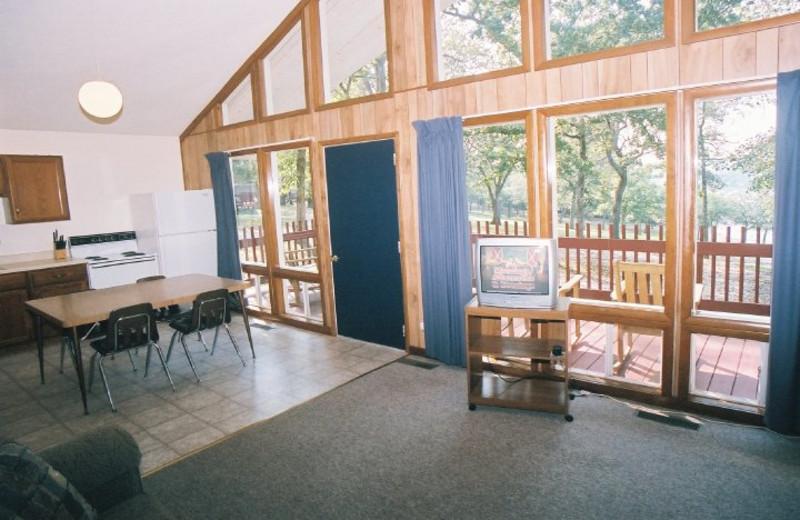 Cabin interior at Indian Trails Resort.
