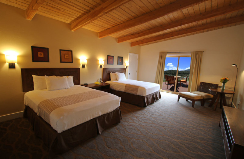 Guest bedroom at Mt. Princeton Hot Springs Resort.