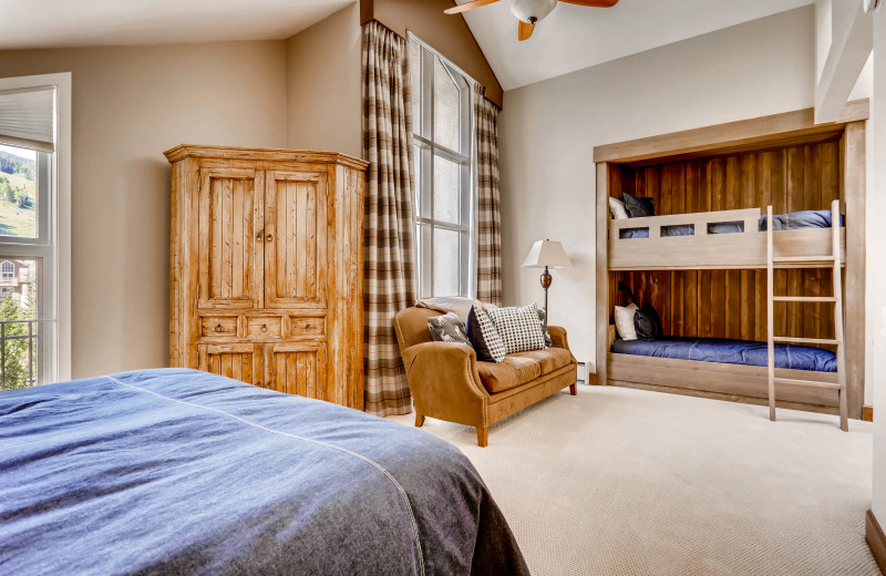 Rental bedroom at Centennial Lodge of Beaver Creek.