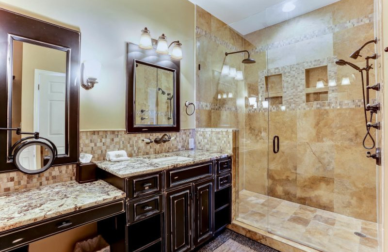 Rental bathroom at Beach Vacation Rentals.