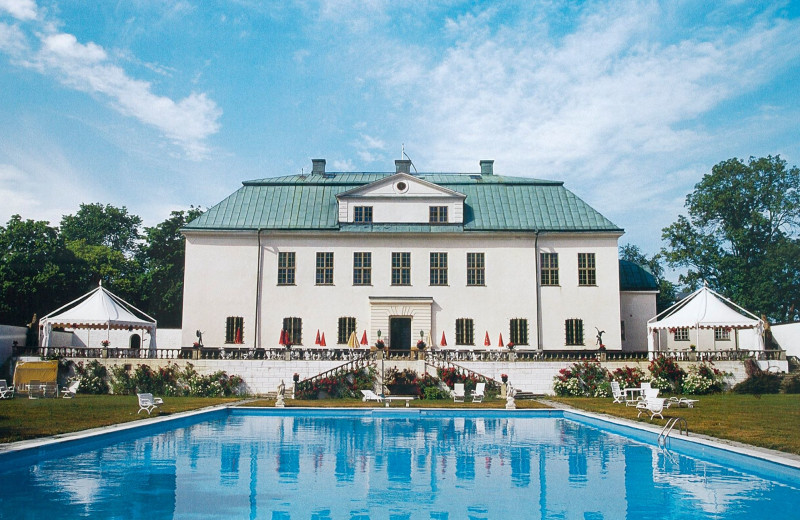 Outdoor pool at Häringe Palace.