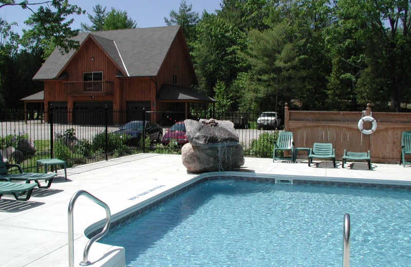 Outdoor pool at Westwind Inn on the Lake.