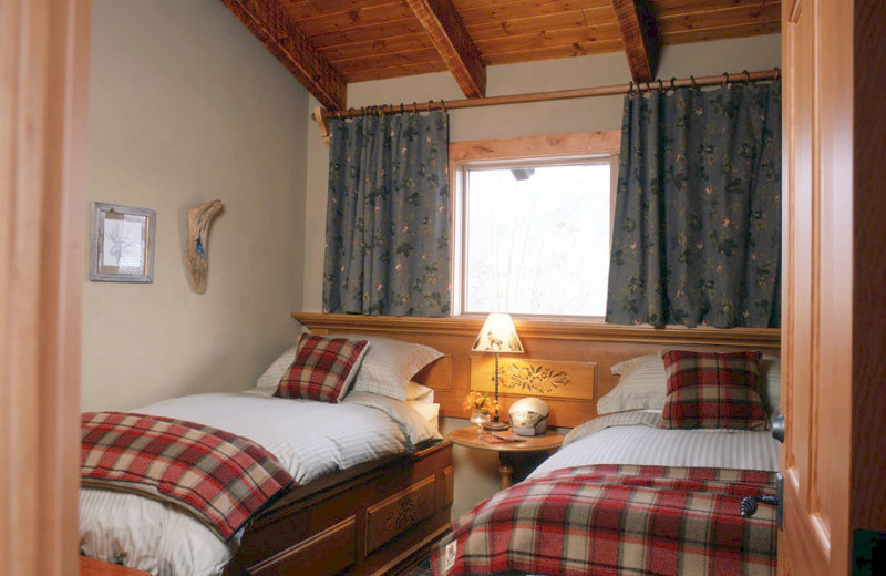 Bedrooms at Paintbox Lodge