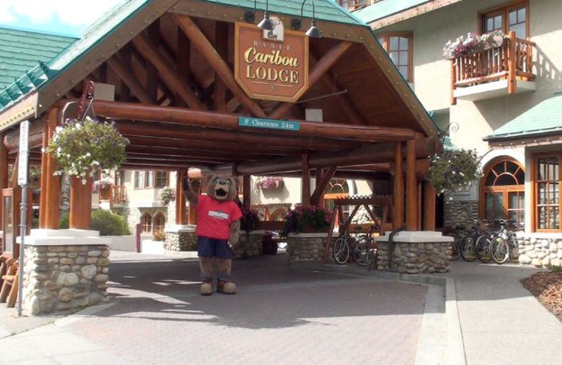 Front entrance of Banff Caribou Lodge.