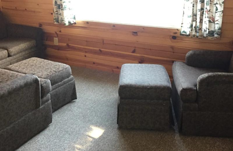Guest living room at Betsy Ross Resort.