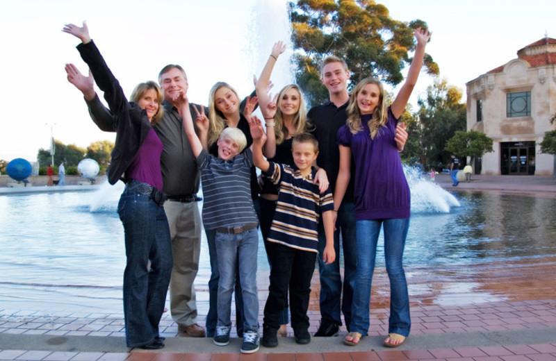 Family at Desert Hot Springs Spa Hotel.