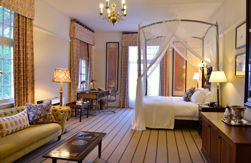 Guest room at The Victoria Falls Hotel.