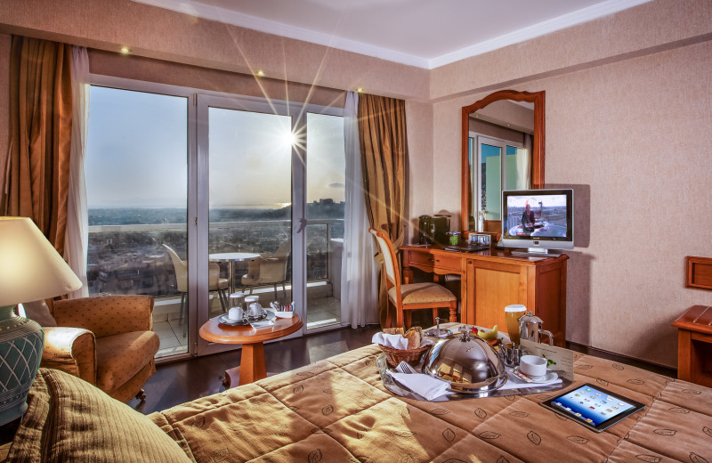Guest room at St. Gorge Lycabettus Boutique Hotel.