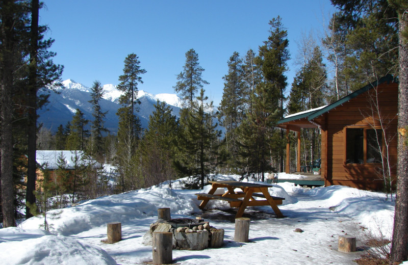 Exterior vIew of Mica Mountain Lodge & Log Cabins.