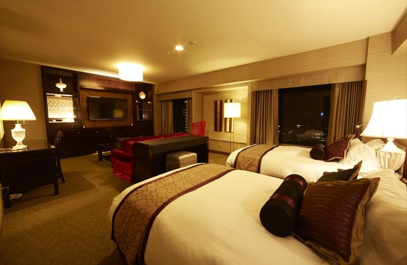 Guest room at Nagoya Kanko Hotel.