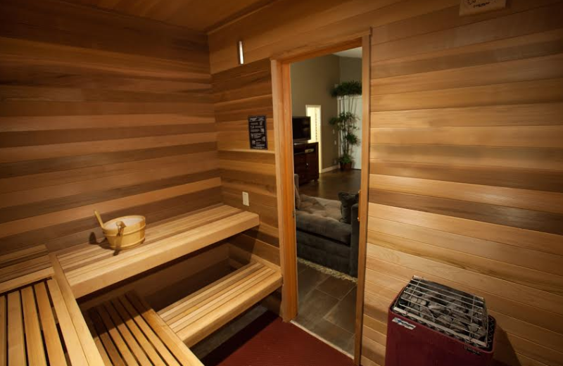 Rental sauna at Sundance Villas.