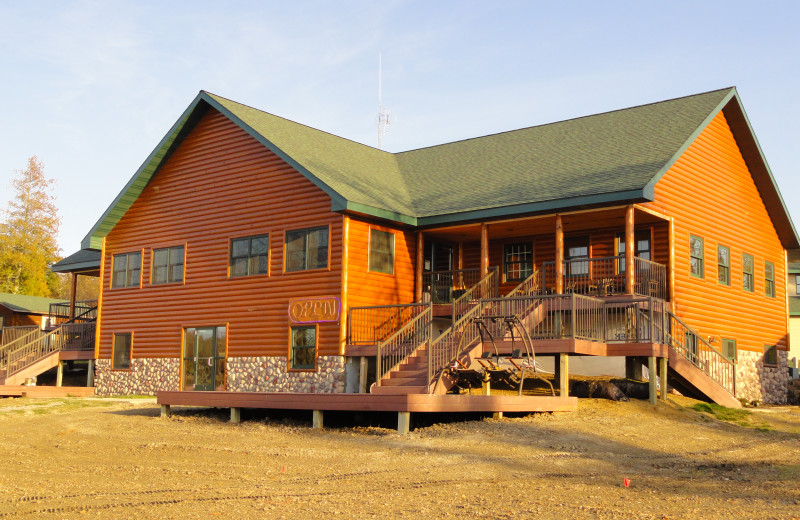 The main lodge at Sunset Lodge.