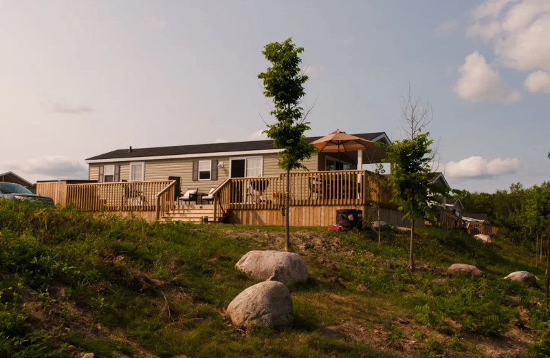 Cabin exterior at Great Blue Resorts- Bellmere Winds Resort.