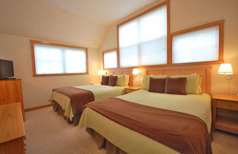 Rental bedroom at Shorepine Vacation Rentals.