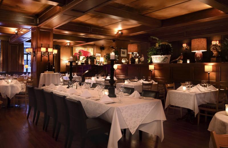 Dining at Executive Inn at Whistler Village.