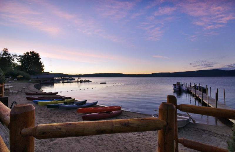 Lake sunset at Trout House Village Resort.