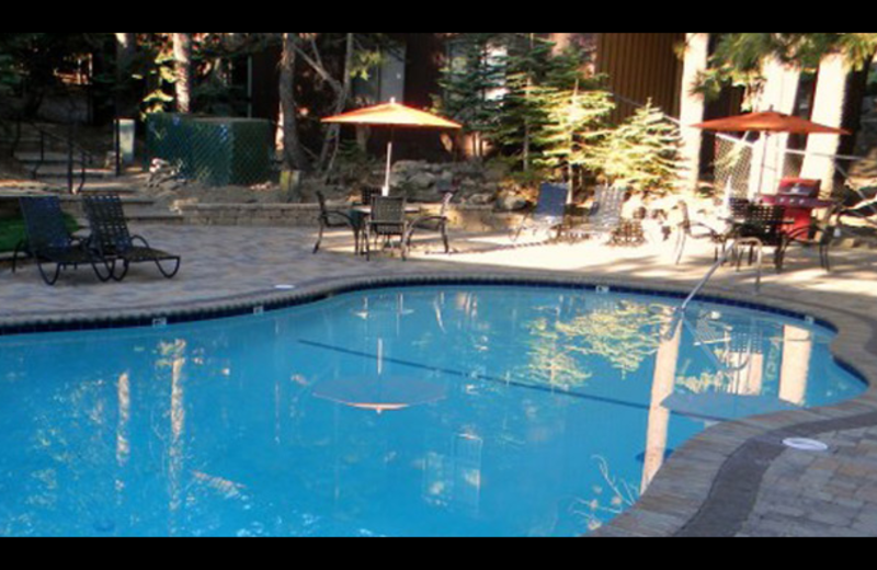 Outdoor pool at Mammoth Estates.