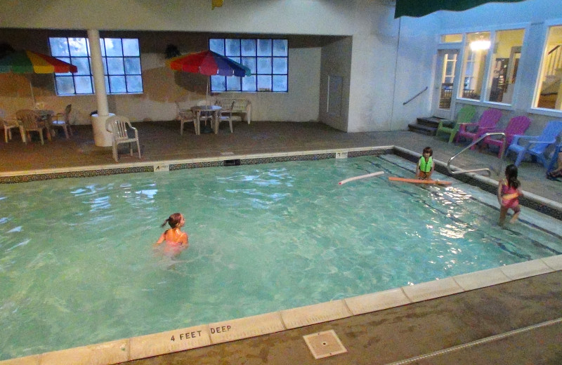 Indoor pool at Winter Clove Inn.
