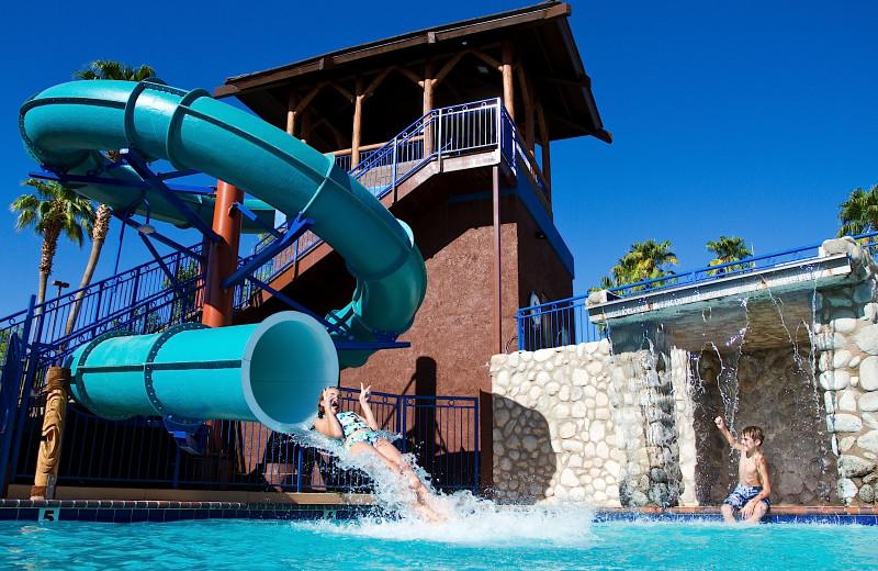 Water slide at London Bridge Resort.