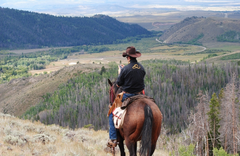 Horseback riding at Medicine Bow Lodge.