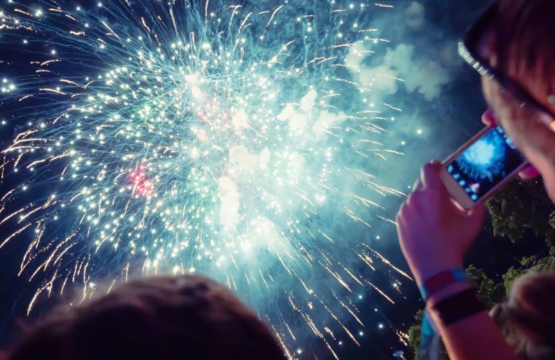 Fireworks at Boar's Head Resort.