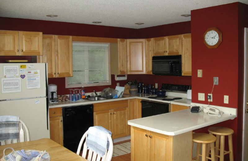 Vacation rental kitchen at Beaver Ridge and Northpoint.