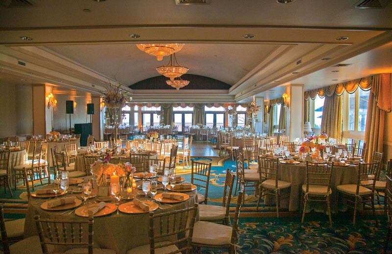 Wedding reception at Waters Edge Resort and Spa.