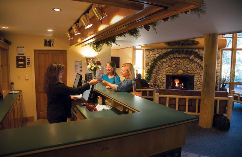 Lobby at Rock Creek Resort.