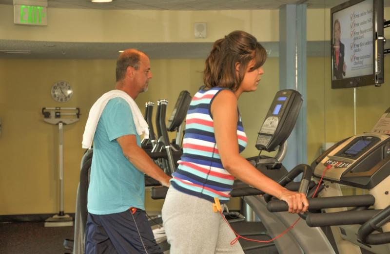 Fitness room at Avista Resort.