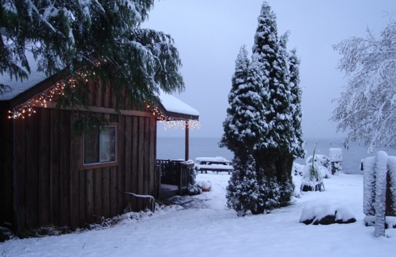 Winter time cottage at West Beach Resort.
