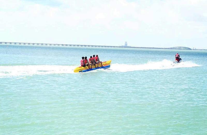 Beach activities at Padre Getaways.