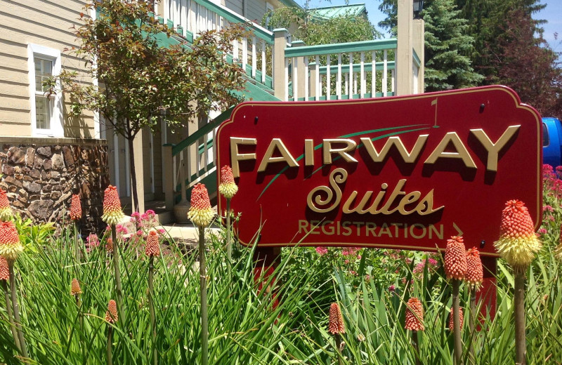 Exterior view of Fairway Suites.
