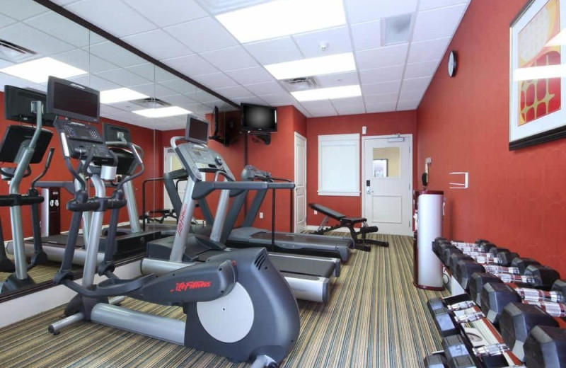 Fitness room at Residence Inn Tucson Williams Centre.