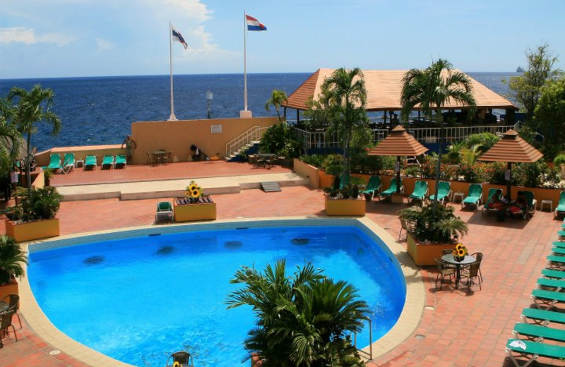 Outdoor Pool at Plaza Hotel Curacao