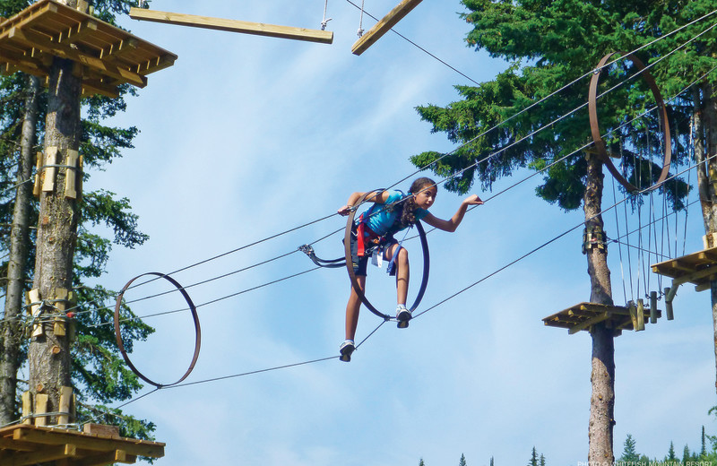 Rope course at The Lodge at Whitefish Lake.