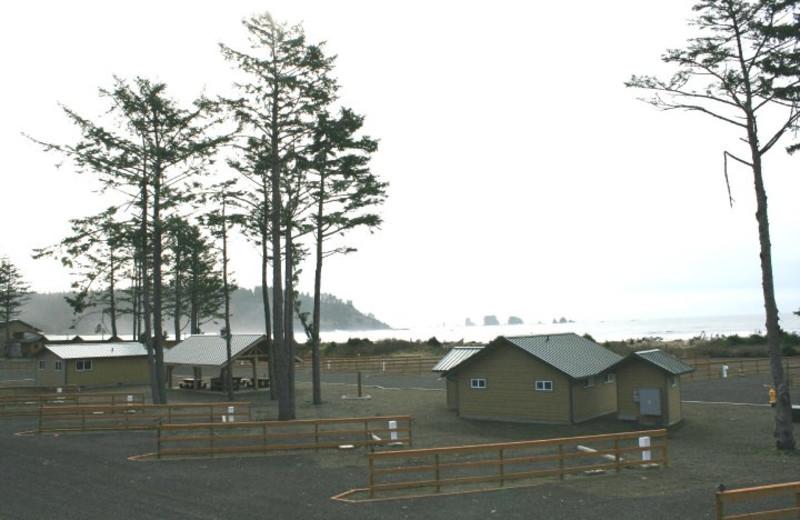 Exterior view of Quileute Oceanside Resort.