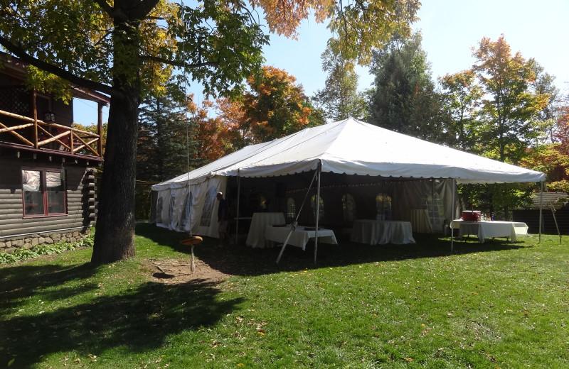 Tent on Lawn Setup at Garnet Hill Lodge