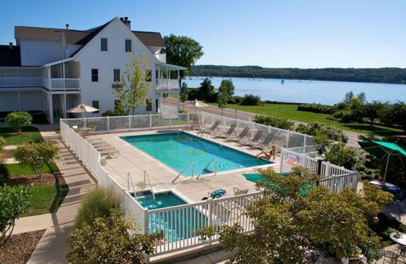 Outdoor pool at Edgewater Resort.