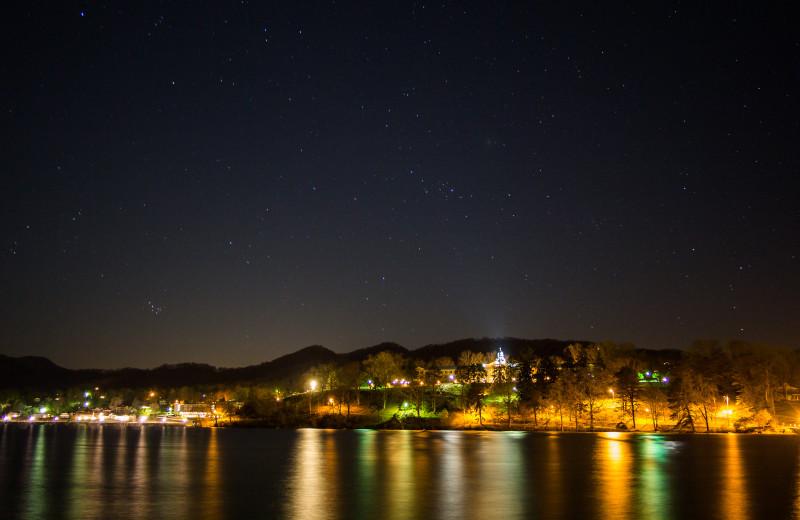 Lake Junaluska at night.